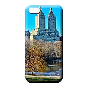 iphone 5c mobile phone case Plastic covers protection Skin Cases Covers For phone frozen central park lake