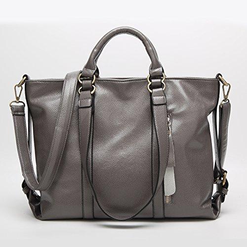 Satchel Hombro Portátil Match gray Hombro Lichi GUANGMING77 Invierno Portátil Azul Todo Bag Litchi Bag AfwExq1