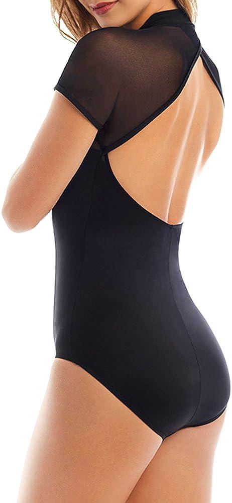 Magicsuit Womens Magic Solids Kylie Mesh Sleeve One Piece Swimsuit