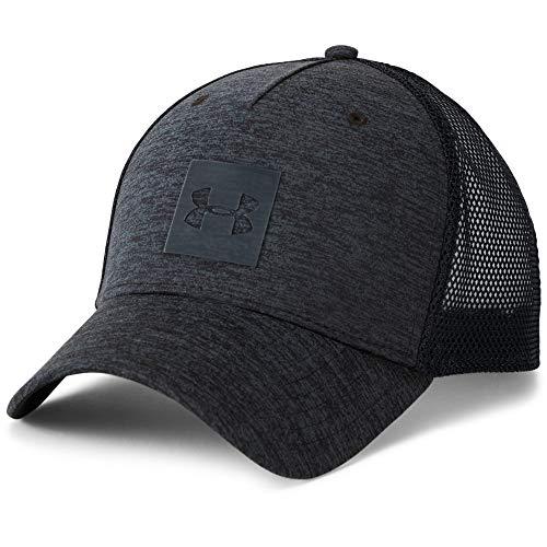 Under Armour Men's Twist Trucker Cap, Black (001)/Stealth Gray, One Size (Under Armour Hats For Men)