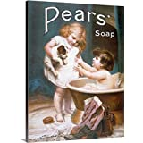 Canvas On Demand Premium Thick-Wrap Canvas Wall Art Print entitled Pears Soap Childrens Puppy Vintage Advertising Poster