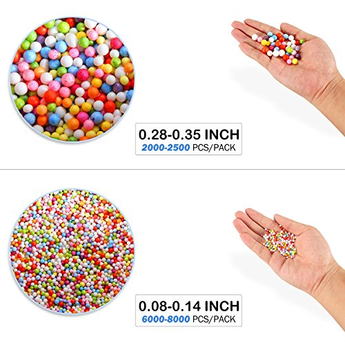 Novata Slime 36 Pack de Suministros para Bricolaje Manualidades, Incluye Espuma abalorio, Cuentas peceras, tarros de Glitter, rodajas de Frutas ect. para ...