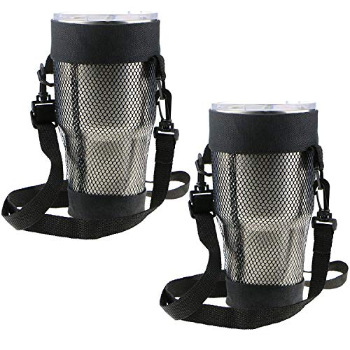 (EEEKit 2 Packs Carry Bag for 30 OZ Tumbler, Yeti, Ozark Trail, RTIC, SIC, Member's Mark 30 ounce Tumbler, Cup Carrier Pouch, Adjustable Detachable Strap, Shoulder Sling)