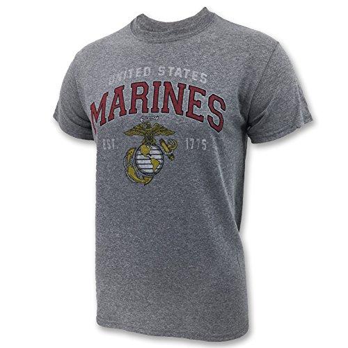 Marines Globe Est. 1775 T-Shirt, large, grey