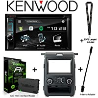 Kenwood Excelon DDX395 6.2 DVD Receiver iDatalink KIT-F150 Dashkit for Select Ford F-150, ADS-MRR Interface Module and BAA21 Antenna Adapter and a SOTS Lanyard