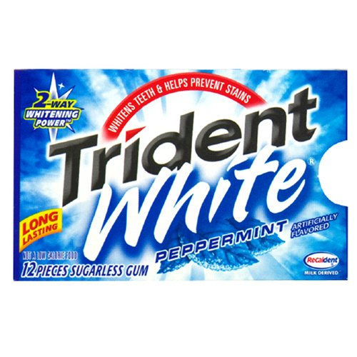 Amazon Com Trident White Gum Peppermint 12 Piece Packages Pack