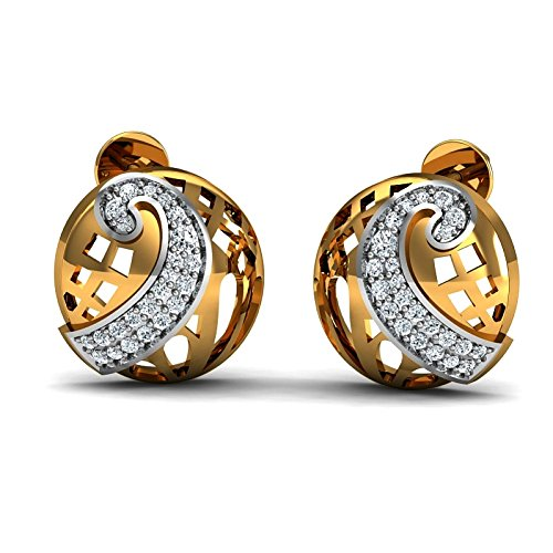 JewelsForum Earrings in 14Kt Yellow Gold with Diamond Studs 0.46 Carat TCW by JewelsForum