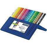Staedtler Ergosoft 157, Crayon de couleur avec sytème anti-casse, Pour coloriage enfant et adulte, Set de 24 couleurs lumineuses, mine douce 3 mm, 157 SB24