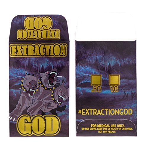 1000 EXTRACTION GOD Cerberus Series Gold Foil Glossy Extract Coin Shatter Labels Envelopes #106 by Shatter Labels