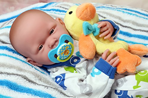 My Handsome Baby Boy Berenguer Realistic 15'' Anatomically Correct Real Soft Vinyl Washable Preemie Life Like Reborn Pacifier Doll by doll-p