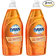 Dawn Dish Soap, Ultra Concentrated Antibacterial Hand Soap Dishwashing Liquid, Orange scent,21.6 Fl. Oz (pack of 2)