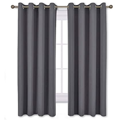 NICETOWN Bedroom Blackout Curtains Panels - Window Treatment Thermal  Insulated Solid Grommet Blackout for Living Room (Set of 2 Panels, 52 by 63  ...