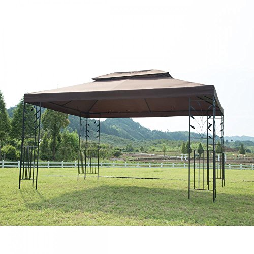 PayLessHere 12'X 10' Outdoor Gazebo Steel frame Vented Gazebo w/Netting