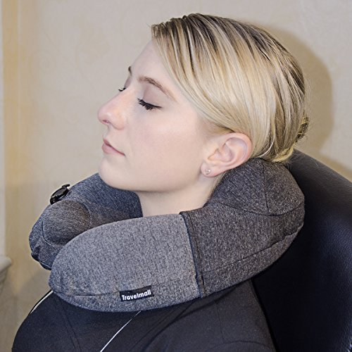 Mall Travel Pillow Inflatable Neck U-Shape Pillow for Tra...