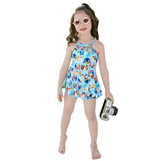Tscenror CL Traje de baño niña Trajes de baño para niñas de una ...