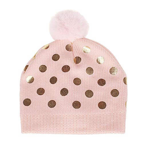 Cap Headgear Denim (Cotton Soft Cute Lovely Newborn Kids Hat,Venonat Dot Knited Woolen Headgear Hat Cap (Pink))