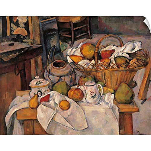 (Canvas on Demand Paul Cezanne Wall Peel Wall Art Print Entitled Still Life in The Basket Paul Cezanne, 1888-1890. Musee D'Orsay, Paris, France 48
