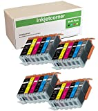 Inkjetcorner Compatible 24 Pack Ink Cartridges for CANON PGI-250 CLI-251 Pixma MG6320 MG7120 MG7520 iP8720 with chip 250 251