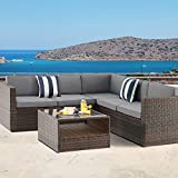 SUNCROWN Outdoor 4-Piece Patio Furniture Sectional