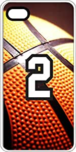 Basketball Sports Fan Player Number 2 White Plastic Decorative iPhone 5c Case