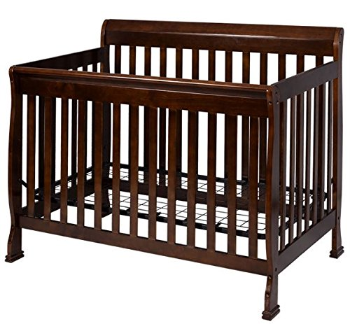 K&A Company Bed Wood Convertible Baby Crib Pine Toddler Nursery 1 Furniture Coffee 4 Daybed Solid Full Size Safety Classic Kid Newborn