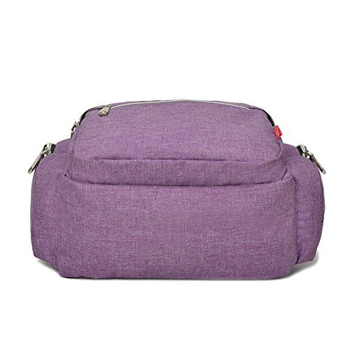 Genda 2Archer Mochila de Viaje Multifunción Pañal del Pañal del Bebé Bolsa Mochila Momia (38cm * 18cm * 38cm) (Rojo) Púrpura
