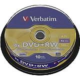 Verbatim DVD+RW 4.7Gb 4X Spindle 10 No 43488 rewritable Blank DVD DVD+rw