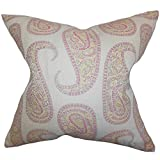 The Pillow Collection Amahl Paisley Floor Pillow Pink