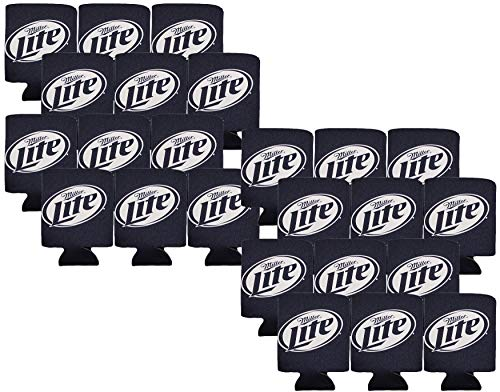 - Miller Lite Blue Eco Coolie Beer Can Soft Koozie (Made from Recycled Materials) (24)