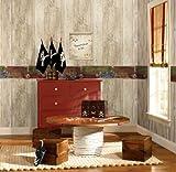 Wall In A Box WIB1008 Pirate Wallpaper, Ash, Pine, Oak, Sand, Beige, Brown, Aged