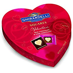 Ghirardelli Valentines Day Heart Gift, Milk Chocolate, 6.41 Ounce