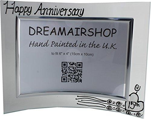 Dreamair 15th Anniversary Crystal Wedding Gift Photo Frame ()