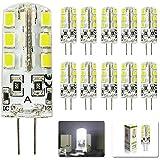 MUMENG 10Pcs G4 Ampoule LED Lampe Blanc Froid 6000-7000k Spotlight 3W 24 SMD 2835 Tres Bright 260Lumen Économie d'énergie Ampoule Lampe DC 12V