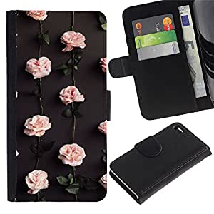 All Phone Most Case / Oferta Especial Cáscara Funda de cuero Monedero Cubierta de proteccion Caso / Wallet Case for Apple Iphone 4 / 4S // Roses Wallpaper Flowers Blossom