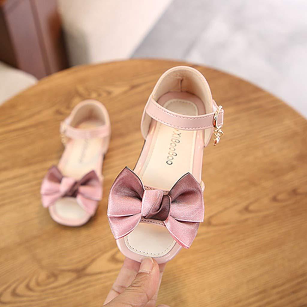 Baby Girls Sandals Little Kids Toddler Newborn Summer Elegant Bowknot Open-Toe Beach Princess Sandal Boots Crib Shoes