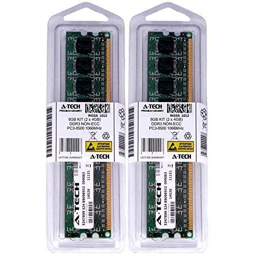 - 8GB 2 x 4GB DDR 3 Desktop Modules Low Density 1066 240pin 240-pin Memory Ram Lot