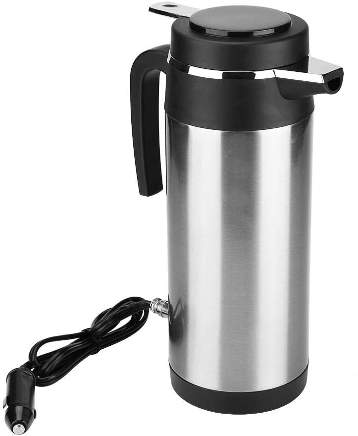 1200ml Car Kettle Thermos, Stainless Steel Travel Electric Kettles for WaterTea Coffee Milk (24V)