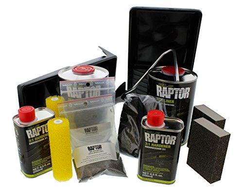 Raptor UP5010 Black 2-Liter Kit with Roller Coating Roll On, 1 (Bed Liner)
