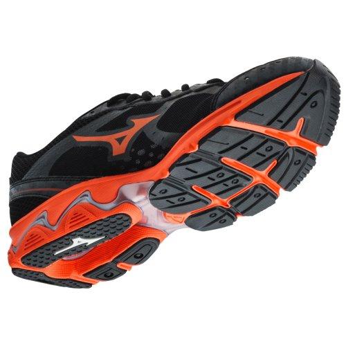 Mizuno Men's Wave Unite 2 Running/Training Shoe - Black & Orange (Black/Orange, 9)