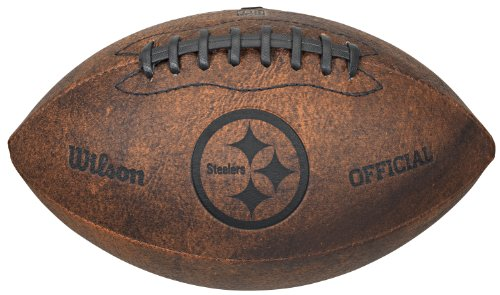 Nfl Throwbacks - NFL Pittsburgh Steelers Vintage Throwback Football, 9-Inches