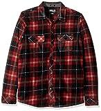 O'Neill Little Boys' Glacier Plaid Long Sleeve Fleece Shirt, Black, 2T