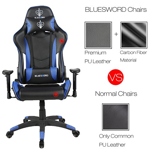 51MTJaIQLwL - BLUE-SWORD-Carbon-Fiber-Gaming-Chair-Large-Size-Racing-Style-High-back-Adjustment-Office-Chair-With-Lumbar-Support-and-Headrest