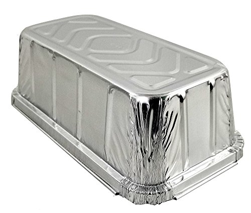 Pactogo 1 1/2 lb. IVC Disposable Aluminum Foil Loaf Bread Pan w/Board Lid (8'' x 4.1'' x 2.2'') - Heavy Duty Made in USA (Pack of 50 Sets) by PACTOGO (Image #7)'
