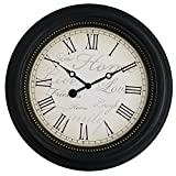ASIBG Home Fashion Modern Wall Clocks For Living Room, Bedroom And Kitchen,Black,