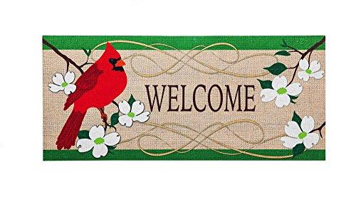 Insert Decor (Evergreen Cardinal Welcome Decorative Floor Mat Insert, 10 x 22 inches)