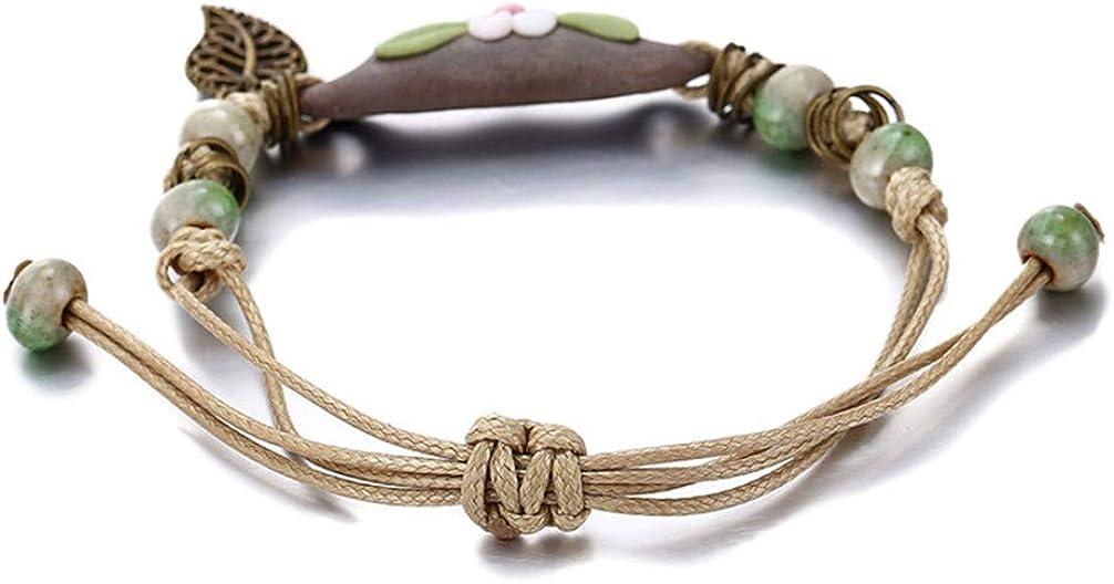 Toporchid Charm Bracelet for Woman Girls Ceramic Bracelet Gift