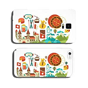 Switzerland love - heart with vector icons cell phone cover case iPhone5