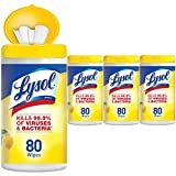 #8: Lysol - Disinfecting Wipes - 4x80ct - Lemon & Lime Blossom - Disinfectant - Cleaning - Sanitizing