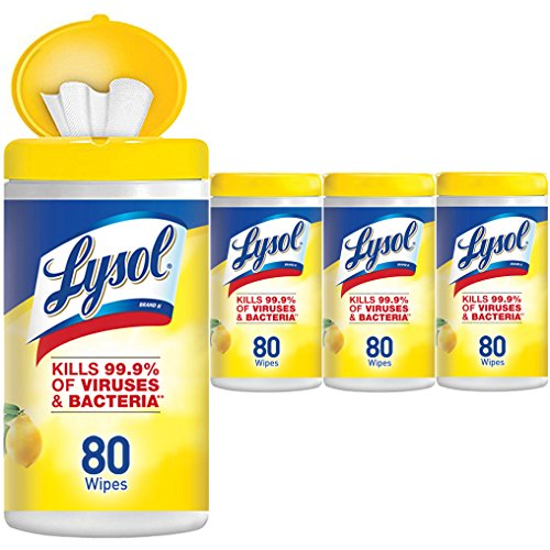Lysol - Disinfecting Wipes - 4x80ct - Lemon & Lime Blossom - Disinfectant - Cleaning - (Purpose Disinfectant)