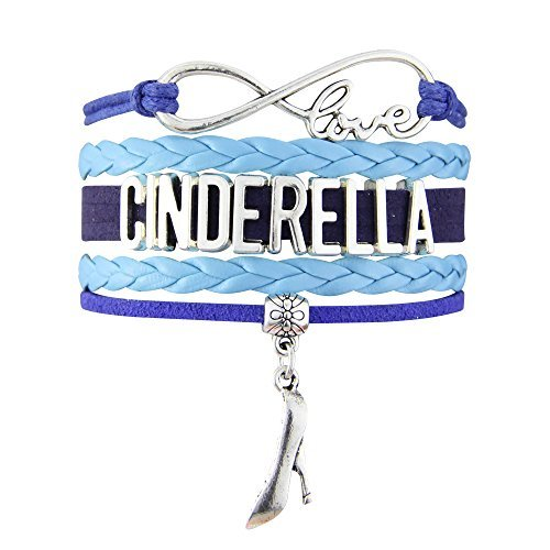 Cinderella Infinity Love Blue With Glass Slipper Charm